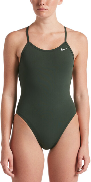 Nike Swim Hydrastrong Solids Lace Up Tie Back jednoczęściowy strój kąpielowy Kobiety, galactic jade